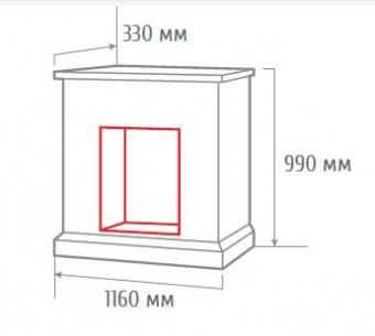 Электрокамин RealFlame Attica 25,5 WT с очагом Evrika 25,5 LED