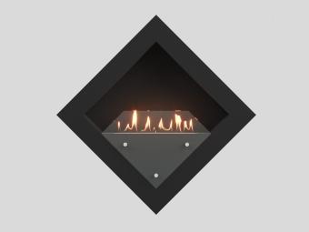 Биокамин Lux Fire Диамант 2 XS чёрный