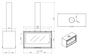 Печь Rocal Habit 100 DC+T