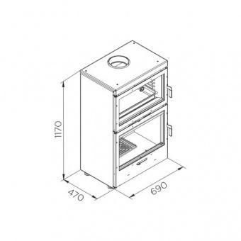 Печь-духовка Rocal LL-1180 Фронтальная