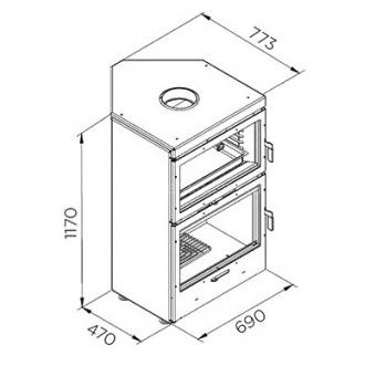 Печь-духовка Rocal LL-1180 Угловая
