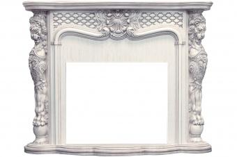 Портал Royal Flame Castle слоновая кость с темной патиной
