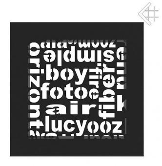 Вентиляционная решетка Kratki 17/17 ABC черная