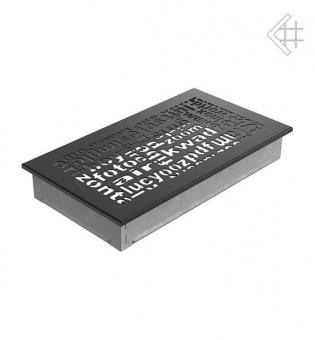 Вентиляционная решетка Kratki 17/30 ABC черная