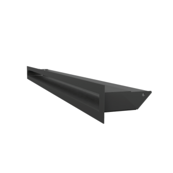 Вентиляционная решетка Kratki Люфт 6х80 черная, 45S