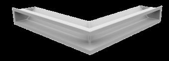 Вентиляционная решетка Kratki Люфт угловая стандарт 560х560х90 белая, 45S