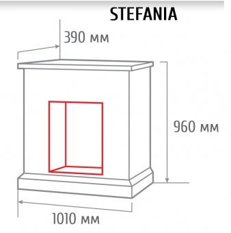 Электрокамин RealFlame Stefania WT с Majestic Lux Brass