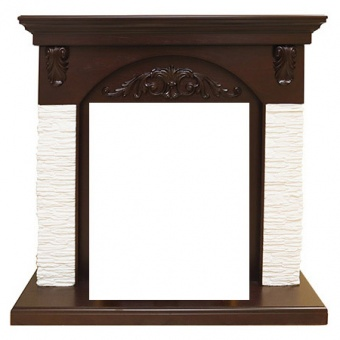 Портал Royal Flame Bern мелкий сланец белый/тёмный дуб под очаги Fobos FX и Majestic FX
