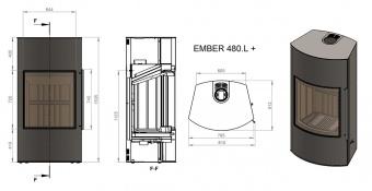Печь Ember Гордана 480 L+