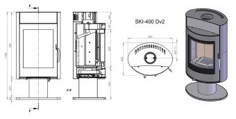 Печь Ember Миляна SKI 400 DV