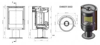 Печь Ember Радмила 500 D