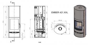 Печь Ember Славица 421 XXL