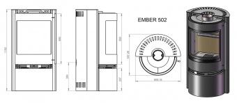 Печь Ember Славна 502