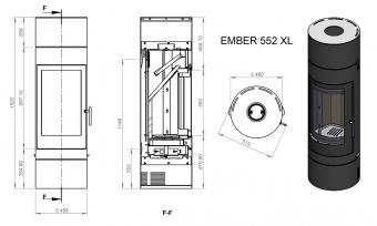 Печь Ember София 552 XL