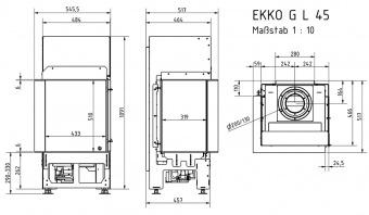 Топка газовая Schmid Ekko G L 45 51