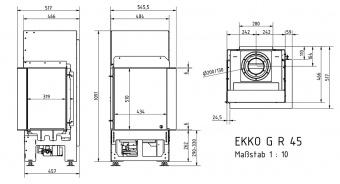 Топка газовая Schmid Ekko G R 45 51