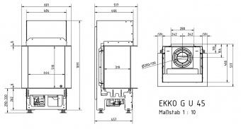 Топка газовая Schmid Ekko G U 45 51