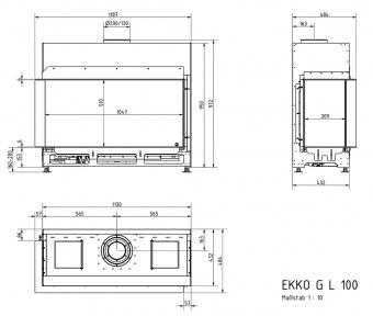 Топка газовая Schmid Ekko G L 100 51