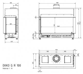 Топка газовая Schmid Ekko G R 100 51
