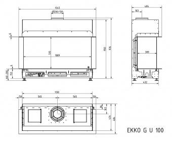 Топка газовая Schmid Ekko G U 100 51