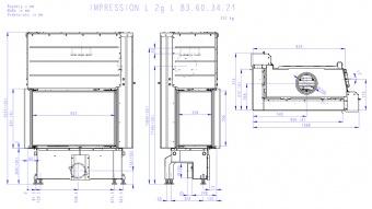 Топка Romotop Impression L 2G L 83.60.34.21 (светлый шамот, левая)