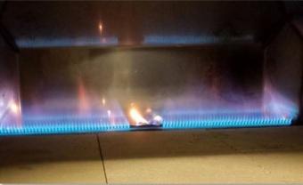 Печь Clementi Pulcinella 80 с окрашенной крышей на газу