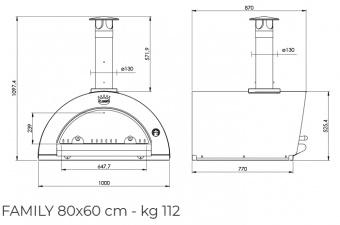 Печь Clementi Family 80 inox 304 на дровах