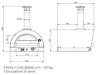 Печь Clementi Family 60 inox 304 на газу