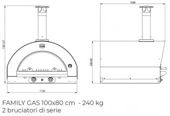 Печь Clementi Maxi Family 100 inox 304 на газу