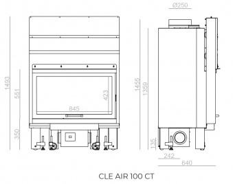 Топка Clementi Cle Air 100 CT