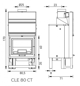 Топка Clementi Cle 80 CT