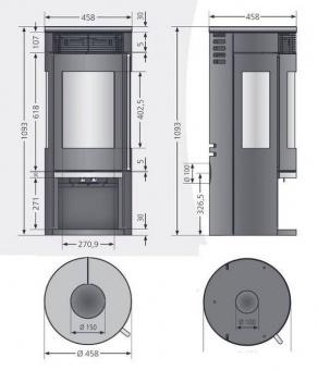 Печь-камин Oranier Rota Tre 2.0