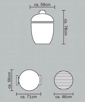 Гриль Monolith Classic Pro-Series 2.0 Black (без столиков и ножек)