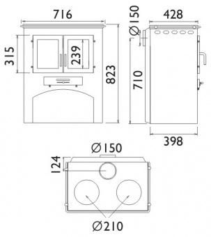 Кухонная плита ABX с духовкой