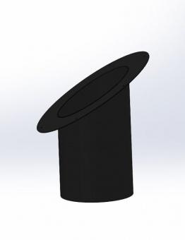 Телескопический элемент круглого сечения с розеткой для наклонного потолка, черный