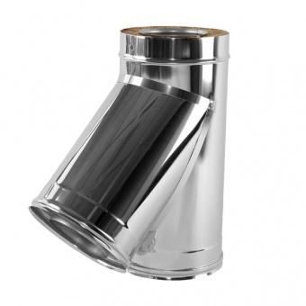 Тройник 45° с изоляцией 50 мм (двустенный, сталь 0,5 мм, диаметр 130 мм, зеркальная) TRvDR45