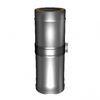 Труба телескопическая L = 350 – 550 мм с изоляцией 50 мм (двустенная, сталь 0,5 мм, диаметр 150 мм, зеркальная) TTvDR550