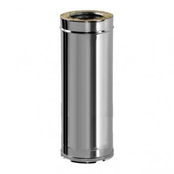 Труба L = 1000 мм с изоляцией 50 мм (двустенная, сталь 0,5 мм, диаметр 180 мм, зеркальная) TLvDR1000