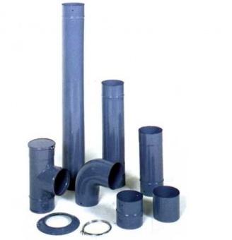 Комплект эмалированных труб, d- 125 - зеленый, голубой, красный, синий