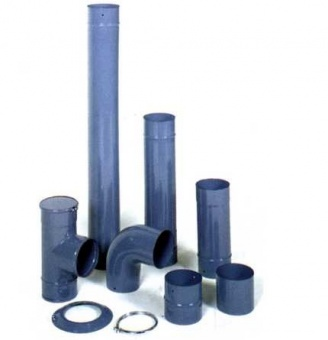Комплект эмалированных труб, d- 153 зеленый, голубой, красный, синий, песочный, синяя ночь